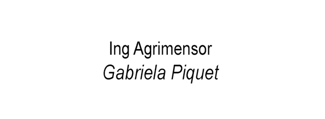 Ing Agrimensor Gabriela Piquet